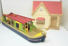 Sylvanian Families family Rose of Sylvania canal boat and house