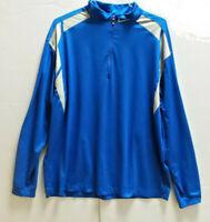NIKE GOLF Mens 1/2 Zip DRI FIT Pullover Jacket Sx XL Blue