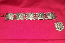 Vintage Firenze Italian Bracelet Italy Costume Jewelry Old Wrist Cuff Bangle 5