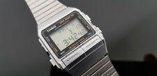 Casio Vintage 1980's Data Bank 50 World Time Telememo Digital Bracelet Watch.
