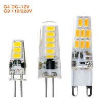 10Pcs G4 G9 Led Bulb 3W 5W 5733 SMD Light Lamps 220/110V Silicone Crystal Bulbs