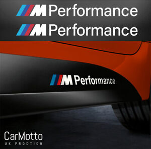2x For BMW M PERFORMANCE SIDE SKIRT M Sport VINYL STICKERS DECAL STRIPES