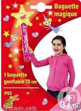GRANDE BAGUETTE MAGIQUE ETOILE GONFLABLE 55 CM SCEPTRE PRINCESSE JOUET PVC