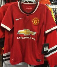 Manchester United  Soccer Jersey Short Sleeves English League Large Boys Youth