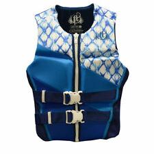 Full Throttle XL Womens White Blue Neoprene Life Jacket Wakeboard Vest