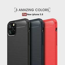 For iPhone 12 11 Pro Max XR X 8 Synthetic Carbon Fiber Magnetic Back Case Cover