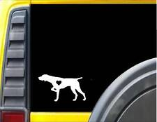 German Shorthaired Pointer Little Heart J609 6 inch dog decal sticker