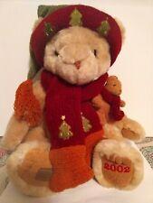 "Cherished Teddies 2002 Bear Plush Stuffed Animal 12"" Winter Christmas"