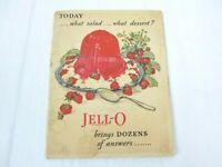 JELLO Cookbook 1920s Advertising Jell-O Recipe Booklet Gelatin Desserts Vtg 1928