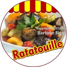 Ratatouille DECAL (Choose Your Size) Concession Food Truck Circle Sticker