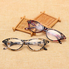 Vintage Womens Lady Cat Eye Casual Reading Glasses Poly Readers +1.0 ~ + 4.0