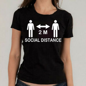Social Distance 2 M, Metre T Shirt Quarantine T-shirt present after lockdown