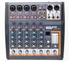 Professional Karaoke Mixer | 6 Channel Mixer With USB Effects And Phantom Power