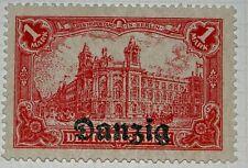 Reichspostamt Berlin stamps with overprints Danzig  - 1920 - Mi8
