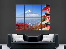 MOUNT FUJI MOUNTAIN POSTER JAPAN ASIA HOUSE  WALL ART PICTURE PRINT GIANT