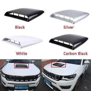 Universal Car Decorative 3D Air Flow Intake Hood Scoop Vent ABS Bonnet Cover