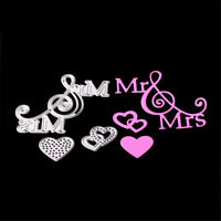 Mr&Mrs Love Metal Cutting Dies Stencils for DIY Paper Cards Scrapbooking gvFSHW