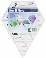 HEX N MORE RULER~JAYBIRD QUILTS~CUT 4 SHAPES IN 4 SIZES~HEXAGON,TRIANGLES~JBQ201