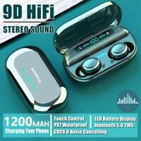 V9 Bluetooth 5.0 Headset TWS Wireless Earphones Mini Earbuds Stereo Headphones