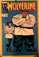 Wolverine #8 1989 Marvel Comics Grey Hulk Mr. Fixit Logan Patches