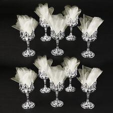 10x Elegante Gastgeschenk Hochzeit Taufe Kommunion Kelch Tischdeko. Kunststoff