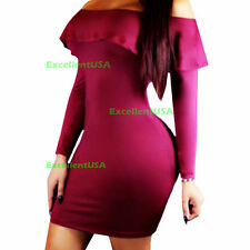 Women Bandage Bodycon Slim Long Sleeve Evening Party Cocktail Pencil Mini Dress