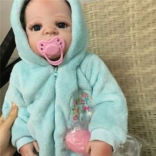 "22"" Lifelike Full Body Silicone Bebe Reborn Baby Boy Doll Handmade newborn gifts"