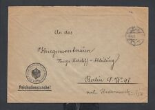 POLAND GERMANY 1916 WWI REICHS POLIZEI LODZ MILITARY COVER TO BERLIN