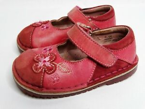Stride Rite Courtney Girls Toddler Size 6.5 Pink Leather Mary Jane Walking Shoes