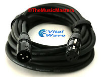 50ft XLR Microphone Mic Cable HQ Extension Amplified Powered Speaker Wire VWLTW