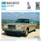 ROLLS-ROYCE SILVER SPIRIT 1980 à nos jours CAR GREAT BRITAIN CARTE CARD FICHE