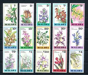 [50797] Malawi 1979 Flora Flowers Blumen Orchids 15 Values MNH