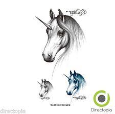 Unicornio Tatuaje Kawaii Impermeable Cuerpo calcomanías extraíble Bl