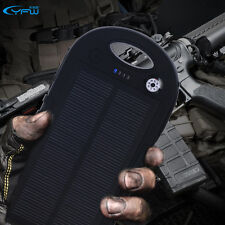 Solar Power Bank 5000mAh Dual USB Waterproof  Charger Battery for Cell Phone