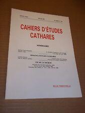 CAHIERS D ETUDES CATHARES. IIe SERIE. N° 120 (1988) CATHARISME / ALBIGEOIS