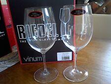 BNIB Pair Riedel Vinum crystal Bordeaux/Cab. Sauvignon/Merlot red wine glasses