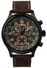 Relojes de pulsera Timex Chrono de cuero