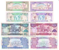 Somaliland 5 + 10 + 500 + 1,000 Shillings Set of 4 Banknotes 4 PCS UNC