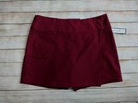DOCKERS Women's Cherry Red Skort Skirt With Built In Shorts - Size 12 NWT