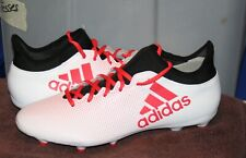 Adidas X 17.3 Fg Sz 12 Men's Soccer Cleats White/Red