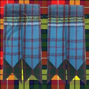 New ScottishHighland Kilt Hose Sock Flashes Anderson Tartan Garter Pointed/Kilts
