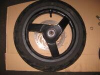 Jante avant aluminium 13 pouce + disque + pneu scooter 4T Peugeot 125 JET FORCE