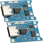 2pcs TP4056 5V 1A USB Type-C 18650 Lithium Battery Charging and Protection Board
