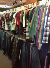 100 PC lot of women's clothing tops pants skirts shirts wholesale Resale Bulk