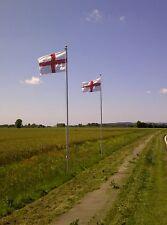 Flagpole Aluminium 20ft, Flag pole, 6m, +England Flag