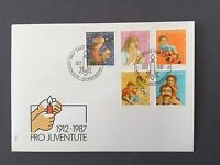 SWITZERLAND FDC 24.11. 1988 HELVETIA  Pro Juventute 1912-1987 Christmas Mother