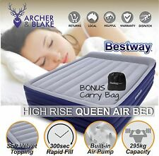 Portable Queen Inflatable Air Bed Blow Up Mattress Pump Camping Travel Bestway