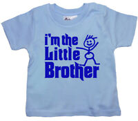 "SALE ITEM Light Blue T-Shirt 3/4 yrs ""I'm the little Brother"" End of Line item."