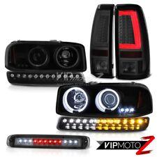 99-06 Sierra SL Smokey Tail Lights Roof Cab Lamp Parking CCFL Headlamps Halo Rim