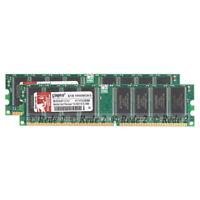 2GB 2X1GB DDR1-400Mhz PC3200 2.5V 184 PIN Dimm Desktop SDRAM ram free ship